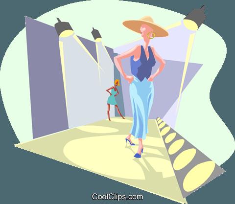Fashion Runway Royalty Free Vector Clip Art Illustration
