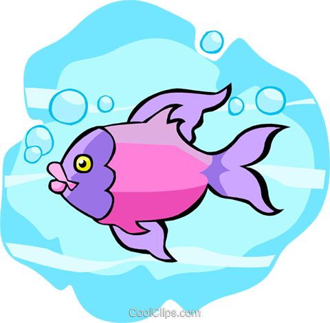 tropical fish Royalty Free Vector Clip Art illustration anim2039