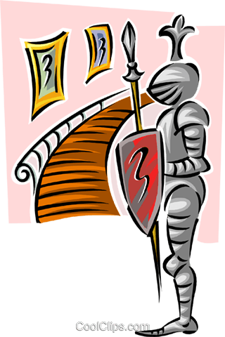 Castle/suit of armor Royalty Free Vector Clip Art illustration arch0503