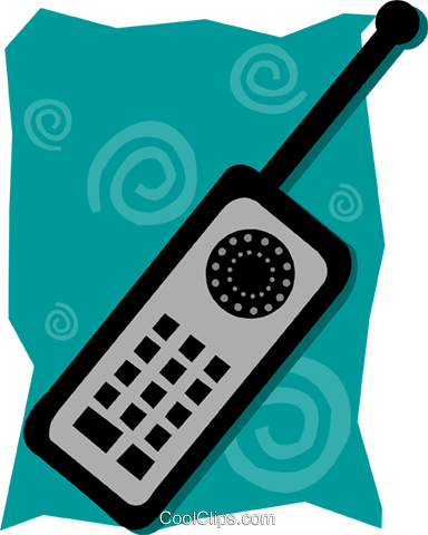 cellular phone Royalty Free Vector Clip Art illustration busi1607