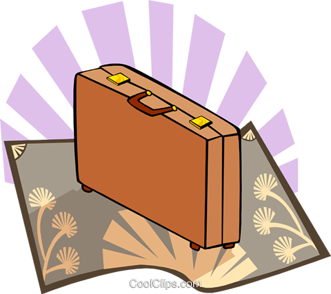 briefcase Royalty Free Vector Clip Art illustration busi1616