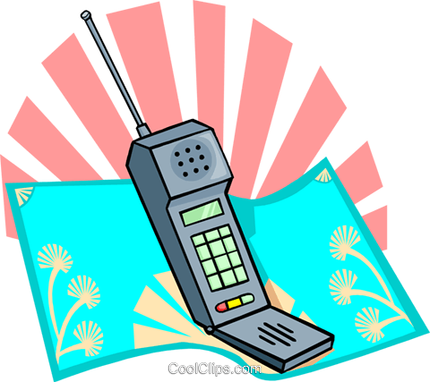 cellular phone Royalty Free Vector Clip Art illustration busi1617