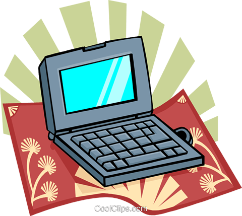 laptop computer Royalty Free Vector Clip Art illustration busi1619