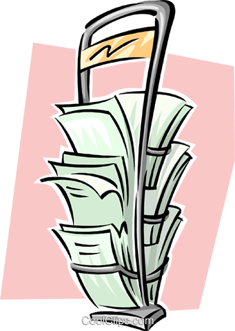 newspaper stand Royalty Free Vector Clip Art illustration busi1624