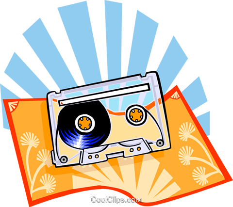 The Arts/Tape cassette Royalty Free Vector Clip Art illustration ente0132