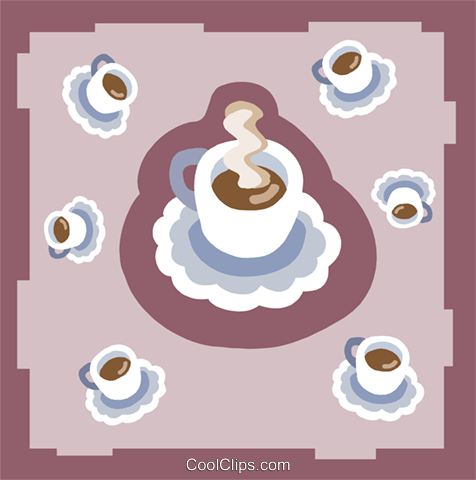 coffee Royalty Free Vector Clip Art illustration food1135