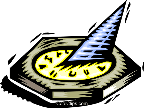 sundial Royalty Free Vector Clip Art illustration natu0908