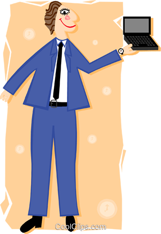 man with laptop PC Royalty Free Vector Clip Art illustration peop3410