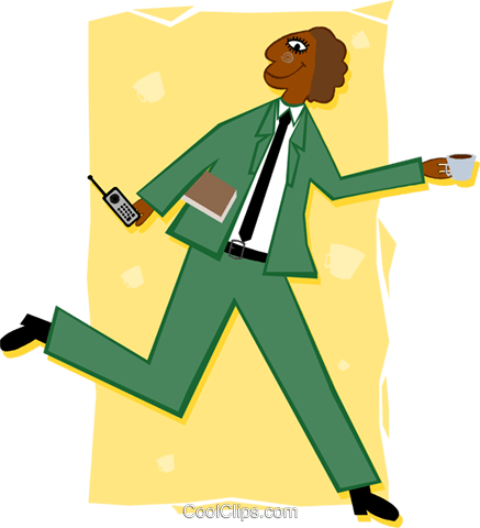 businessman on the go Royalty Free Vector Clip Art illustration peop3412