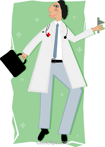 doctor Royalty Free Vector Clip Art illustration peop3415