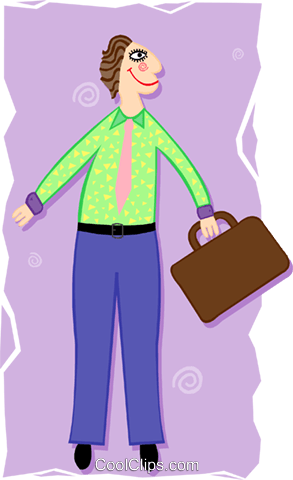 funky businessman Royalty Free Vector Clip Art illustration peop3419