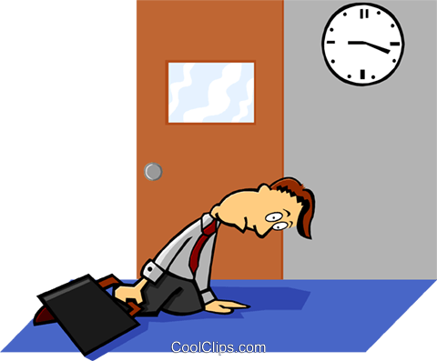 late for work Royalty Free Vector Clip Art illustration peop3426