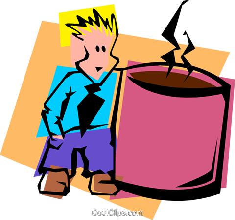 coffee fanatic Royalty Free Vector Clip Art illustration peop3439