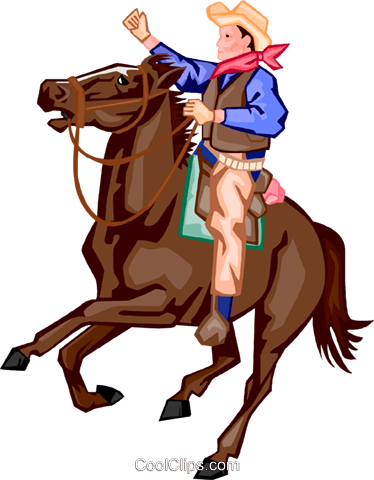 cowboy Royalty Free Vector Clip Art illustration peop3440