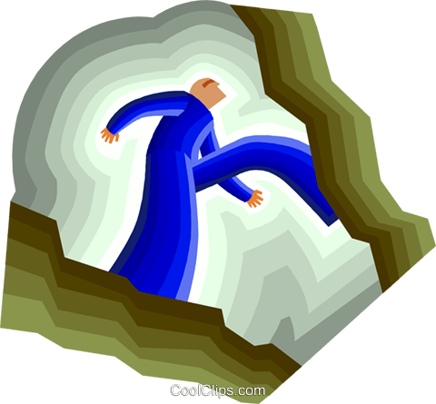crossing the chasm Royalty Free Vector Clip Art illustration peop3458