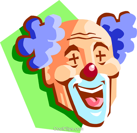 clown head Royalty Free Vector Clip Art illustration spec0326