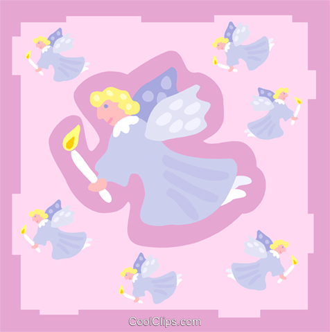 angels Royalty Free Vector Clip Art illustration spec0333