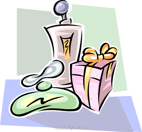 gift and colognes Royalty Free Vector Clip Art illustration spec0335