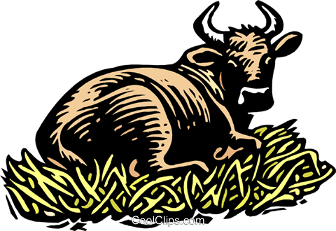 bull Royalty Free Vector Clip Art illustration anim2043