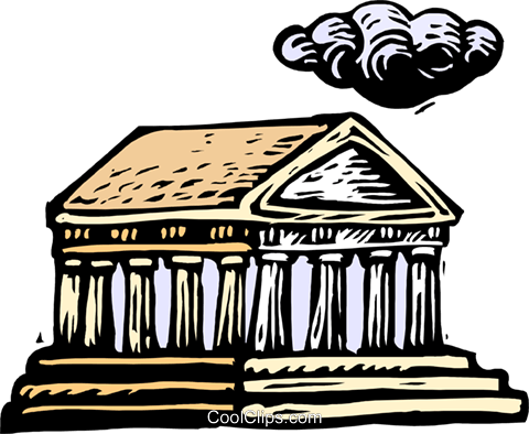 Woodcut European architecture Royalty Free Vector Clip Art illustration arch0506