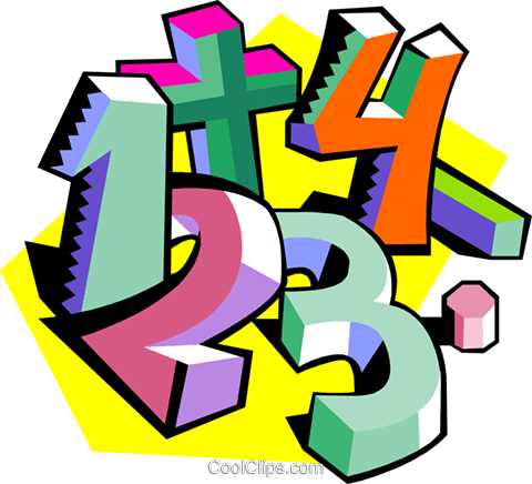 Education, numbers Royalty Free Vector Clip Art illustration educ0015