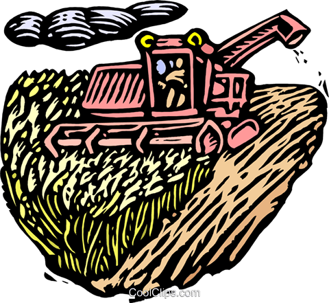Woodcut combine Royalty Free Vector Clip Art illustration indu0964