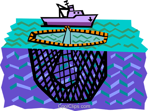 Commercial fishing boat Royalty Free Vector Clip Art illustration indu0967