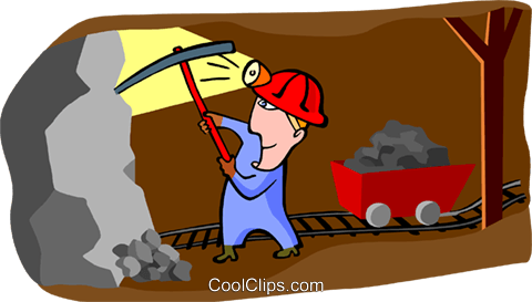 miner Royalty Free Vector Clip Art illustration peop3462