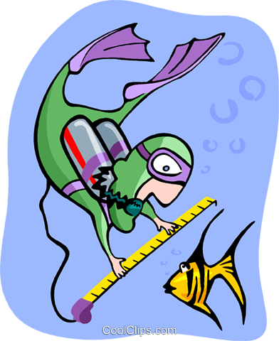 scuba diver Royalty Free Vector Clip Art illustration peop3463