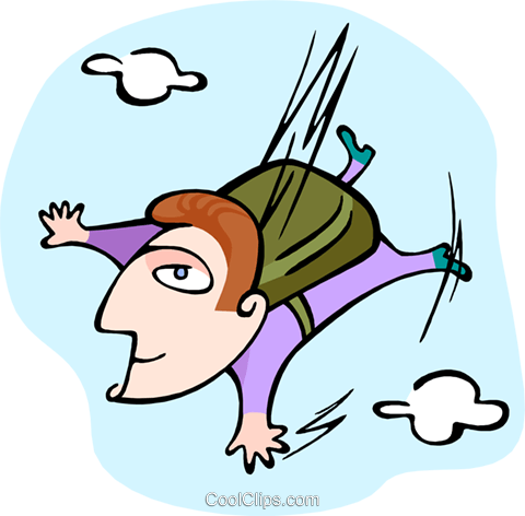 skydiver Royalty Free Vector Clip Art illustration peop3466