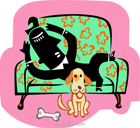 relaxing at home Royalty Free Vector Clip Art illustration peop3472