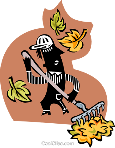 yard worker Royalty Free Vector Clip Art illustration peop3476