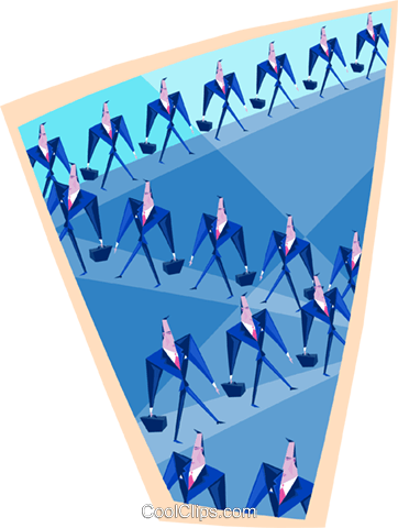 the team Royalty Free Vector Clip Art illustration peop3489