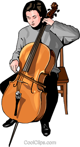 Classical musician Royalty Free Vector Clip Art illustration peop3502