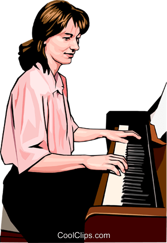 pianist Royalty Free Vector Clip Art illustration peop3503