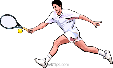 Tennis player Royalty Free Vector Clip Art illustration peop3504