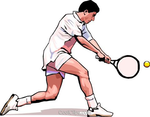 Tennis player Royalty Free Vector Clip Art illustration peop3505