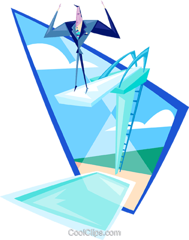 dive in Royalty Free Vector Clip Art illustration peop3513