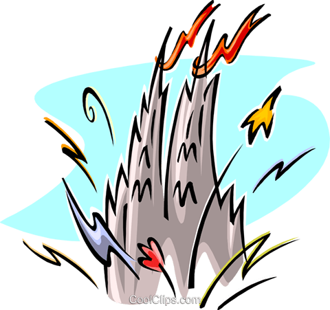 Castle with fireworks Royalty Free Vector Clip Art illustration spec0336