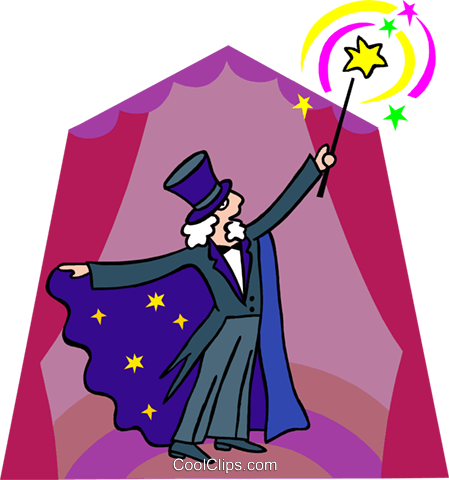 magician Royalty Free Vector Clip Art illustration spec0351