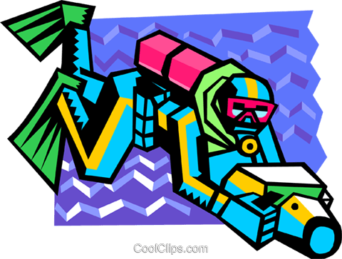 scuba diver Royalty Free Vector Clip Art illustration spor0399
