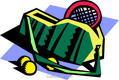 tennis bag Royalty Free Vector Clip Art illustration spor0402