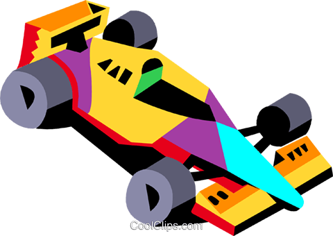 racecar Royalty Free Vector Clip Art illustration tran0971