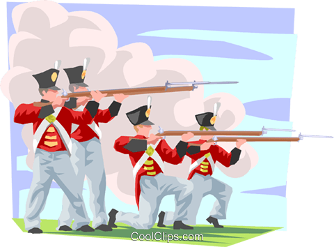 Fort Henry soldiers Royalty Free Vector Clip Art illustration trav0120