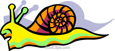 snail Royalty Free Vector Clip Art illustration anim2060