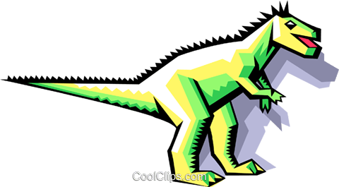 stylized dinosaur Royalty Free Vector Clip Art illustration anim2065