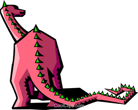stylized dinosaur Royalty Free Vector Clip Art illustration anim2072