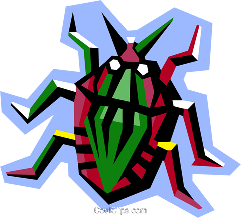 stylized beetle Royalty Free Vector Clip Art illustration anim2077