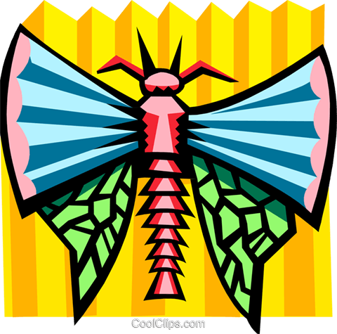 stylized bug Royalty Free Vector Clip Art illustration anim2079