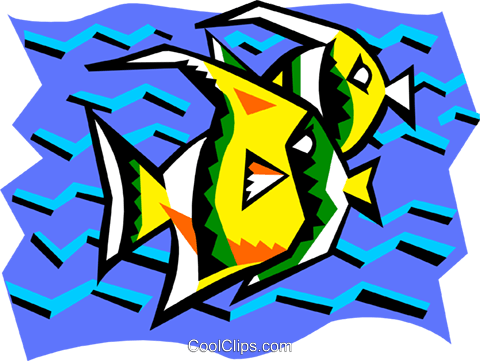 stylized fish Royalty Free Vector Clip Art illustration anim2089